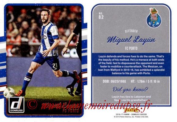 2016 - Panini Donruss Cards - N° 082 - Miguel LAYUN (FC Porto)