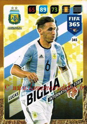 2017-18 - Panini FIFA 365 Cards - N° 345 - Lucas BIGLIA (Argentine) (International Star)