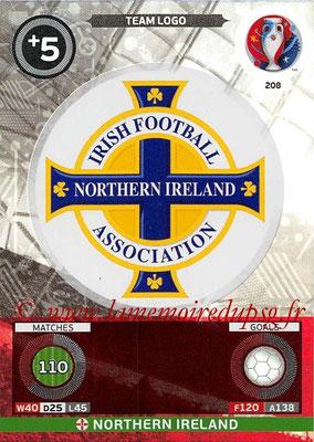 Panini Euro 2016 Cards - N° 208 - Logo de Irlande du Nord