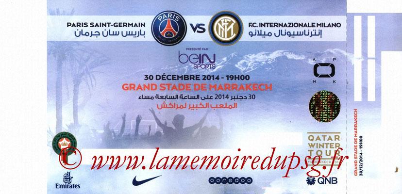 Ticket  Inter Milan-PSG  2014-15