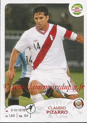 2014 - Panini Road to FIFA World Cup Brazil Stickers - N° 228 - Claudio PIZARRO (Pérou)
