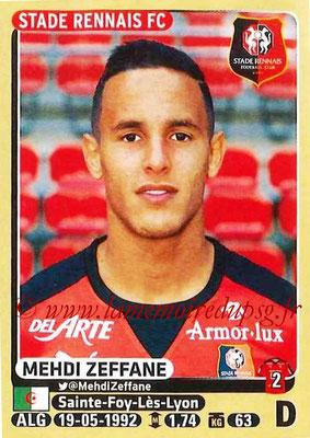 2015-16 - Panini Ligue 1 Stickers - N° 398 - Mehdi ZEFFANE (Stade Rennais FC)