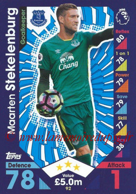2016-17 - Topps Match Attax Premier League - N° 092