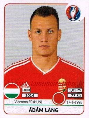 Panini Euro 2016 Stickers - N° 666 - Adam LANG (Hongrie)