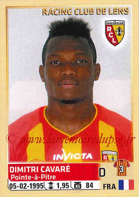 2014-15 - Panini Ligue 1 Stickers - N° 128 - Dimitri CAVARE (RC Lens)