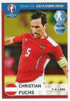 Panini Road to Euro 2016 Stickers - N° 194 - Christian FUCHS (Autriche)
