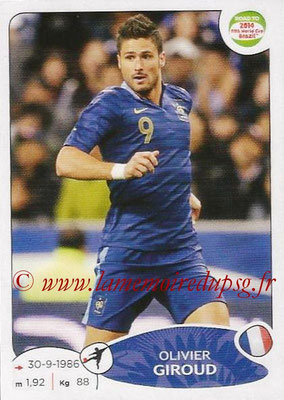2014 - Panini Road to FIFA World Cup Brazil Stickers - N° 107 - Olivier GIROUD (France)