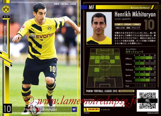 Panini Football League 2015 - PFL14 - N° 072 - Henrikh MKHITARYAN (Borussia Dortmund) (Star)