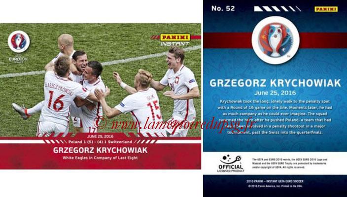 Panini Instant Euro 2016 - N° 052 - Grzegorz KRYCHOWIAK