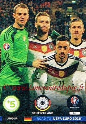 Panini Road to Euro 2016 Cards - N° 061 - Equipe Allemagne 1