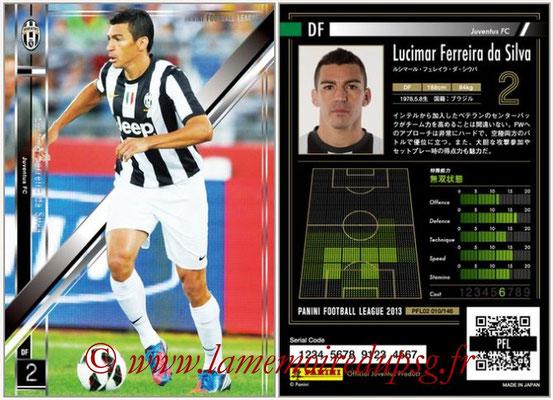 Panini Football League 2013 - PFL02 - N° 010 - Lucimar Ferreira da Silva ( Juventus FC )