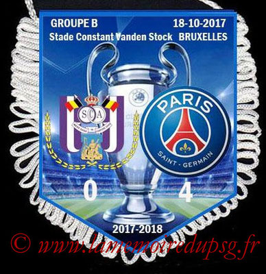 Fanion Anderlecht-PSG  2017-18