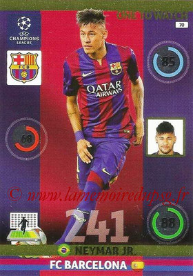 2014-15 - Adrenalyn XL champions League N° 070 - NEYMAR JR (FC Barcelone) (One to watch)