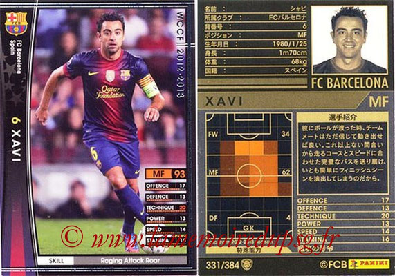 2012-13 - WCCF - N° 331 - XAVI (FC Barcelone)