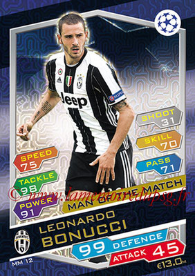 2016-17 - Topps UEFA Champions League Match Attax - N° MM12 - Leonardo BONUCCI (Juventus FC) (Man of the Match)