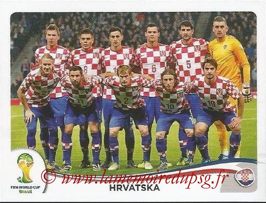 2014 - Panini FIFA World Cup Brazil Stickers - N° 052 - Equipe Croatie