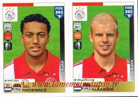 2015-16 - Panini FIFA 365 Stickers - N° 650-651 - Jairo RIEDEWALD + Davy KLAASSEN (AFC Ajax)