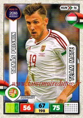 2018 - Panini Road to FIFA World Cup Russia Adrenalyn XL - N° HUN16 - Tamas PRISKIN (Hongrie)