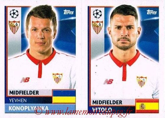 2016-17 - Topps UEFA Champions League Stickers - N° SEV 16-17 - VITOLO + Yevhen KONOPLYANKA (FC Seville)