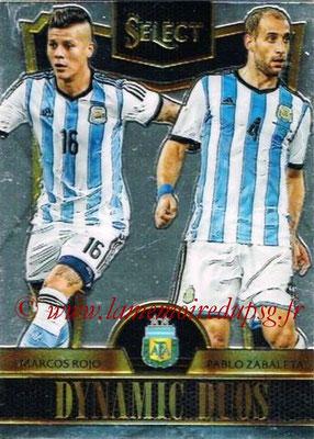 2015 - Panini Select Soccer - N° DD01 - Marcos ROJO + Pablo ZABALETA (Argentine) (Dynamic Duos)