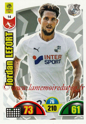 2018-19 - Panini Adrenalyn XL Ligue 1 - N° 014 - Jordan LEFORT (Amiens)