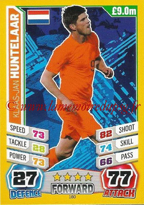 Topps Match Attax England 2014 - N° 180 - Klaas-Jan HUNTELAAR (Pays-Bas)
