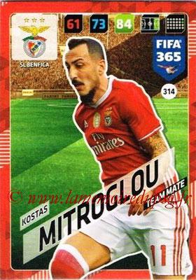 2017-18 - Panini FIFA 365 Cards - N° 314 - Kostas MITROGLOU (SL Benfica)