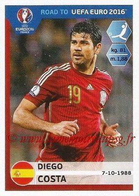 Panini Road to Euro 2016 Stickers - N° 096 - Diego COSTA (Espagne)
