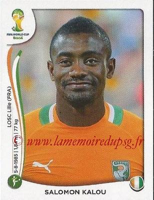 2014 - Panini FIFA World Cup Brazil Stickers - N° 237 - Salomon KALOU (Côte d'Ivoire)