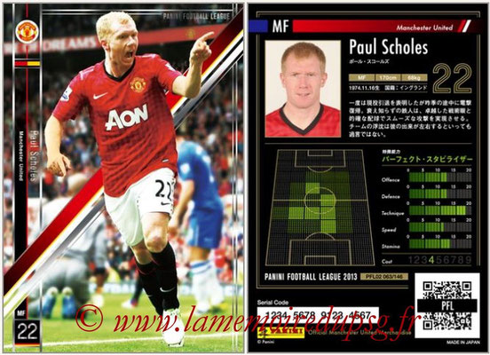 Panini Football League 2013 - PFL02 - N° 063 - Paul Scholes ( Manchester United  )
