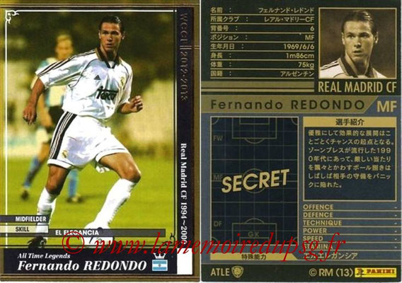 2012-13 - WCCF - N° ATLE08 - Fernando REDONDO (Real Madrid CF) (All-Time Legend)