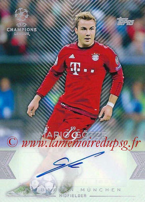 2015-16 - Topps UEFA Champions League Showcase Soccer - N° CLA-MG - Mario GÖTZE (FC Bayern Munich) (Base Autographs Cards)