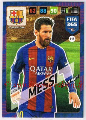 2017-18 - Panini FIFA 365 Cards - N° 115 - Lionel MESSI (FC Barcelone)