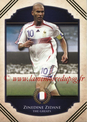 2014 - Futera World Football Unique - N° 120 - Zinedine ZIDANE (The Greats)