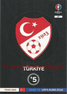 Panini Road to Euro 2016 Cards - N° 027 - Ecusson Turquie