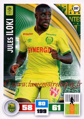 2016-17 - Panini Adrenalyn XL Ligue 1 - N° 267 - Jules ILOKI (Nantes)