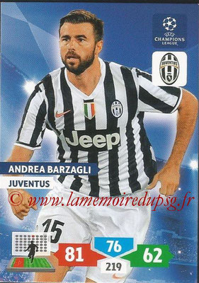 2013-14 - Adrenalyn XL champions League N° 148 - Andrea BARZAGLI (Juventus FC)