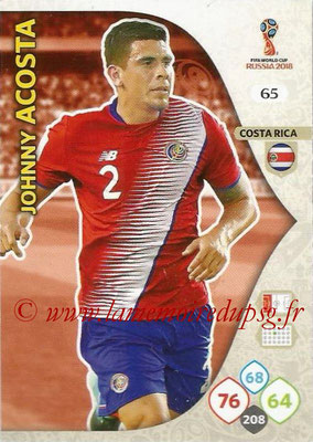 2018 - Panini FIFA World Cup Russia Adrenalyn XL - N° 065 - Johnny ACOSTA (Costa Rica)