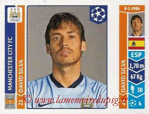 2014-15 - Panini Champions League N° 372 - David SILVA (Manchester City FC)