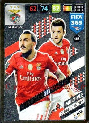 2017-18 - Panini FIFA 365 Cards - N° 458 - Kostas MITROGLOU + Andreas SAMARIS (SL Benfica) (Club & Country)