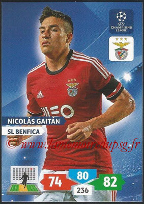 2013-14 - Adrenalyn XL champions League N° 096 - Nicolas GAITAN (SL Benfica)