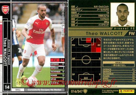 2015-16 - Panini WCCF - N° 016 - Theo WALCOTT (Arsenal FC)
