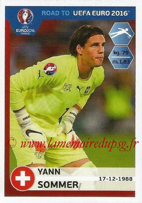 Panini Road to Euro 2016 Stickers - N° 353 - Yann SOMMER (Suisse)