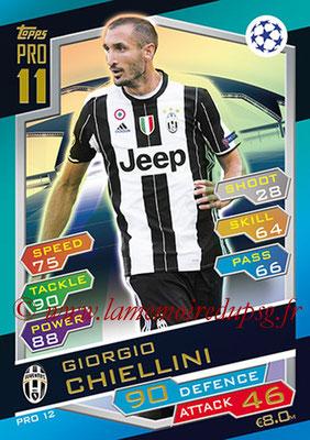 2016-17 - Topps UEFA Champions League Match Attax - N° PRO12 - Giorgio CHIELLINI (Juventus FC) (Pro 11)