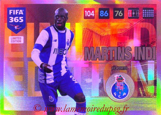2016-17 - Panini Adrenalyn XL FIFA 365 - N° LE44 - Bruno MARTINS INDI (FC Porto) (Limited Edition)