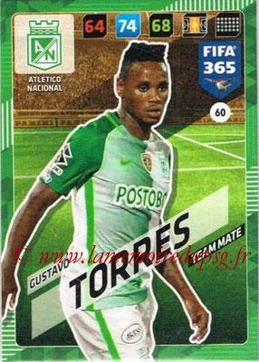 2017-18 - Panini FIFA 365 Cards - N° 060 - Gustavo TORRES (Atletico Nacional)