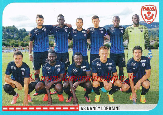 2016-17 - Panini Ligue 1 Stickers - N° 550 - Equipe Nancy