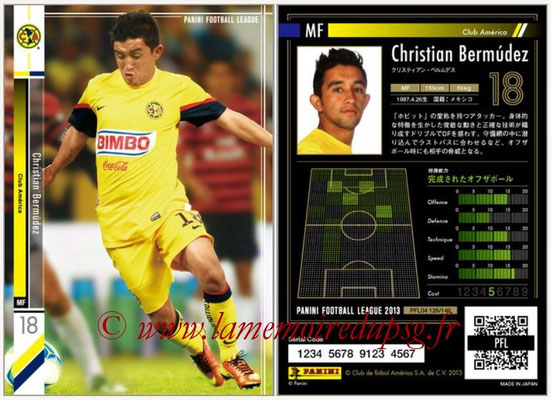 Panini Football League 2013 - PFL04 - N° 126 - Christian BERMUDEZ (Club América)