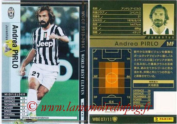 2013-14 - WCCF - N° WBE07 - Andrea PIRLO (Juventus FC) (World Best Eleven)