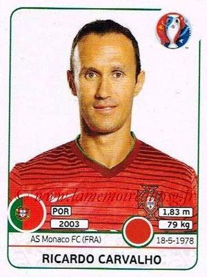 Panini Euro 2016 Stickers - N° 579 - Ricardo CARVALHO (Portugal)